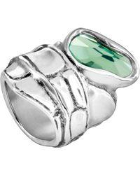 Uno De 50 - Eye Of The Crocodile Swarovski Crystal Accented Ring - Lyst