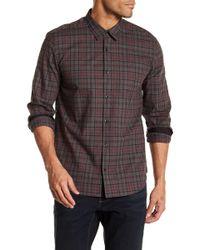 John Varvatos - Plaid Slim Fit Button Down Shirt - Lyst