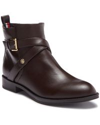 Tommy Hilfiger - Rambit Faux Leather Ankle Boot - Lyst