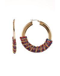 Rebecca Minkoff - Wrapped Statement Hoop Earrings - Lyst