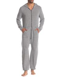Kenneth Cole Reaction - Hooded Pj Jumpsuit - Lyst