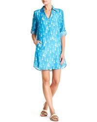 Tori Richard - Pineapple Gidget Silk Blend Dress - Lyst