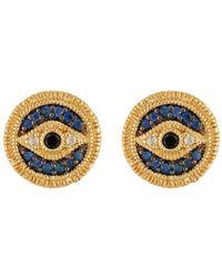 Judith Ripka - Gold Vermeil Evil Eye Stud Earrings - Lyst