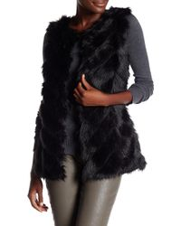 Cliche - Faux Fur Front Vest - Lyst