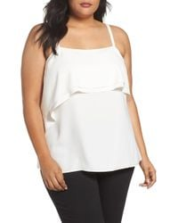 Sejour - Double Ruffle Camisole Top - Lyst