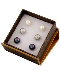 Splendid - Sterling Silver 7mm Cultured Freshwater Pearl Stud Set - Lyst