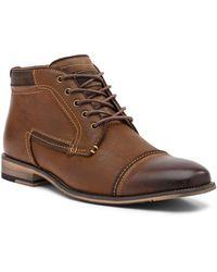 Steve Madden - Joyce Cap Toe Leather Boot - Lyst