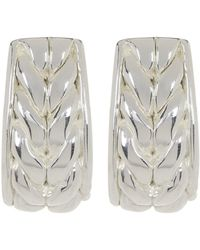 Simon Sebbag - Sterling Silver Basketweave J Earrings - Lyst