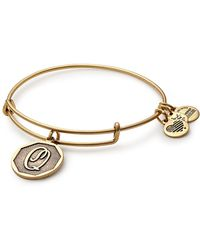 ALEX AND ANI - Initial 'q' Charm Expandable Wire Bracelet - Lyst