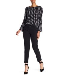Adrianna Papell - Belted Slim Fit Crop Trousers - Lyst