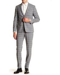 Original Penguin - Nested Grey Plaid Two Button Notch Lapel Suit - Lyst