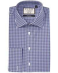 Thomas Pink - Summers Gingham Print Slim Fit Dress Shirt - Lyst