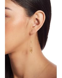 Chan Luu - 18k Gold Plated Sterling Silver Palm Tree Threader Drop Earrings - Lyst