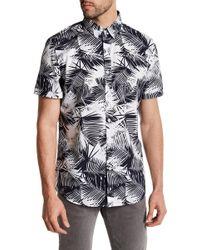 Sovereign Code - Short Sleeve Palm Print Regular Fit Shirt - Lyst
