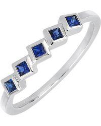 Bony Levy - 18k White Gold Bezel Set Sapphire Ring - Lyst
