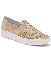 Khrio - Perforated Suede Slip-on Sneaker - Lyst