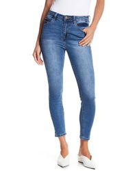 Kensie - Clean High Rise Ankle Skinny Jeans - Lyst