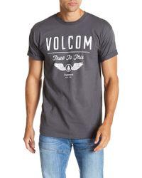 Volcom - Stifle Short Sleeve Front Graphic Print Tee - Lyst