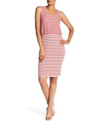 Three Dots - Double Face French Terry Dress - Lyst