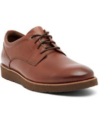 Clarks - Folcroft Plain Toe Leather Derby - Lyst
