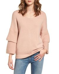 French Connection - Urban Flossy Ruffle Sleeve Sweater - Lyst