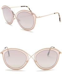 1cf2a099f996 Lyst - Tom Ford Vanda Grey Gradient Cat Eye Sunglasses in Gray