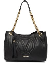 b771210d6d5a Valentino By Mario Valentino - Verra Leather Stitched Brand Logo Tote Bag -  Lyst