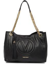 972e1e5ba752 Valentino By Mario Valentino - Verra Leather Stitched Brand Logo Tote Bag -  Lyst