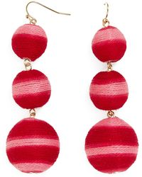 BaubleBar - Concordia Crispin Ball Triple Drop Earrings - Lyst