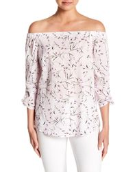 Cece by Cynthia Steffe - Graceful Floral Off-the-shoulder Top - Lyst