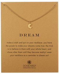 Dogeared - 14k Gold Vermeil Dream Moon Glow Pendant Necklace - Lyst