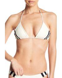 Mikoh Swimwear - Retro Striped Triangle Bikini Top - Lyst