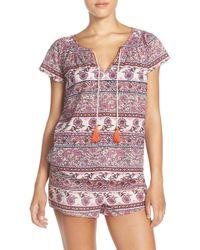 Lucky Brand Print Cotton Pyjamas