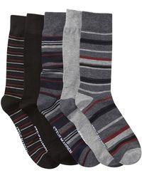 Steve Madden - Stripes Crew Socks Box Set - Pack Of 5 - Lyst