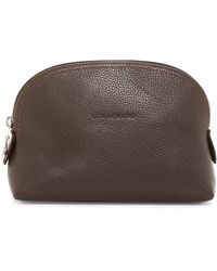 Longchamp - Vf Dome Leather Cosmetic Case - Lyst