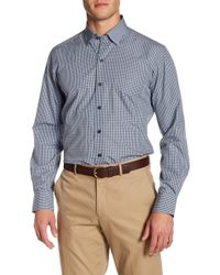 David Donahue - Check Print Regular Fit Shirt - Lyst