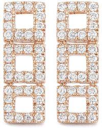 Dana Rebecca - 14k Rose Gold Diamond Accented Allison Joy 3 Square Bar Earrings - 0.26 Ctw - Lyst