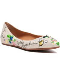 Love Moschino - Embroidered Ballerina Flat - Lyst