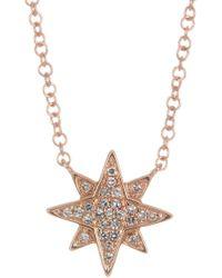 Ron Hami | 14k Rose Gold Pave Diamond Starburst Pendant Necklace - 0.06 Ctw | Lyst