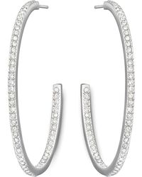 Swarovski - Vi Pave Crystal 44.45mm Hoop Earrings - Lyst