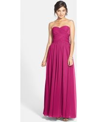 JS Boutique - Strapless Sweetheart Gown - Lyst
