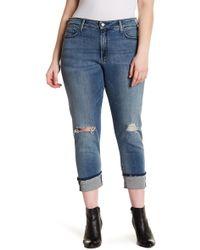 NYDJ - Marnie Frayed Cuff Boyfriend Jeans (plus Size) - Lyst