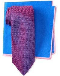 Ted Baker - Frame Circle Silk Tie - Lyst