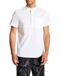 Kenneth Cole - Popover Short Sleeve Regular Fit Shirt - Lyst