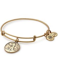 ALEX AND ANI - Lighthouse Charm Expandable Wire Bracelet - Lyst