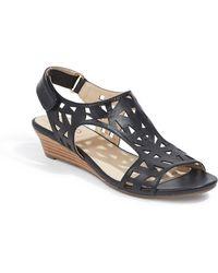 Me Too - Sienna Laser Cut Wedge Sandal (women) - Lyst