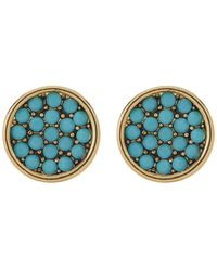 Ariella Collection - Stone Pave Disc Earrings - Lyst