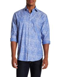 Thomas Dean - Floral Check Long Sleeve Sport Fit Shirt - Lyst