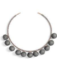 Rebecca Minkoff | High Shine Pompom Collar Necklace | Lyst