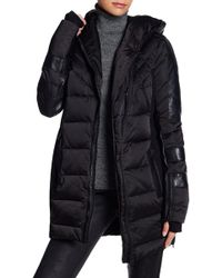 Blanc and Noir - Hooded Puff Coat - Lyst